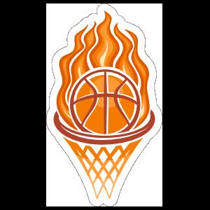 Fire Hoop Basketball Sticker