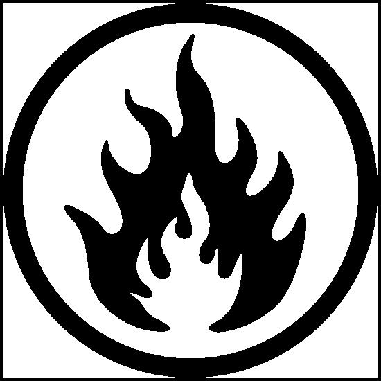 Fire Symbol Sticker