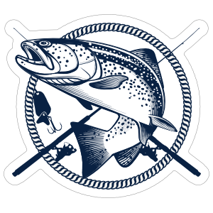 Fishing Poles Fishing Sticker