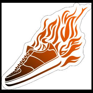 Flame Sneaker Basketball Sticker