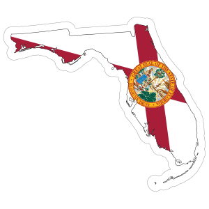 Florida Flag State Sticker