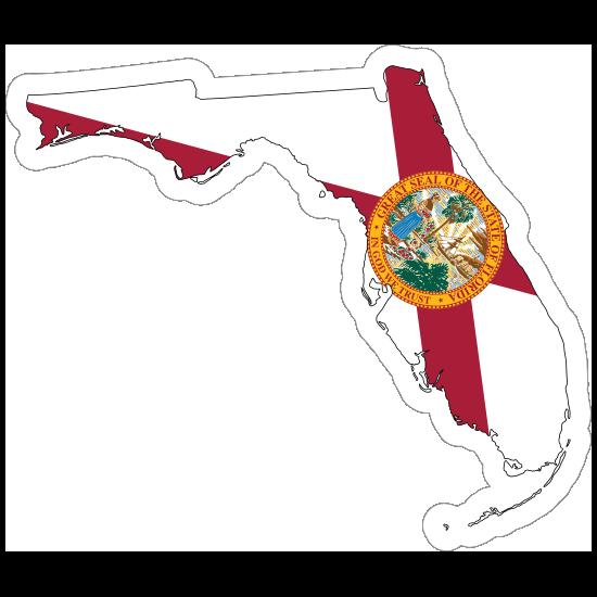 Florida Flag State Sticker
