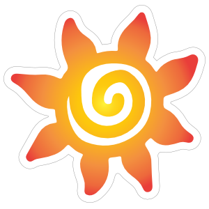 Flower Sun Sticker