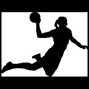 Flying Dodgeball Player Sticker