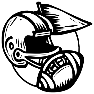 Football Helmet And Ball Sticker