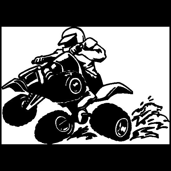 Detailed Four Wheeler Sticker