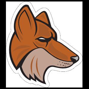 Fox Mascot Sticker
