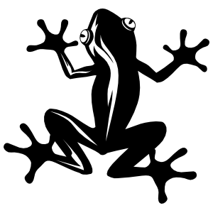 Stick Frog Toad Sticker