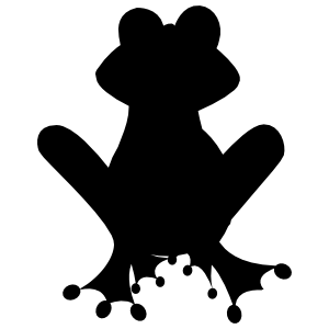 Frog Toad Sitting Sticker