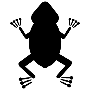Frog Toad With Silly Toes Sticker