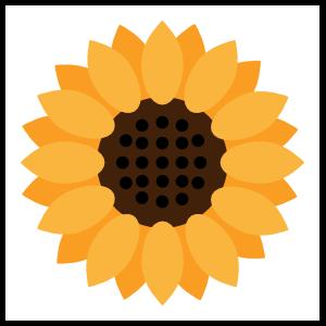 Full Sunflower Sticker