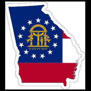 Georgia Flag State Sticker