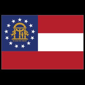 Georgia Ga State Flag Magnet