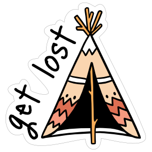Get Lost Camping Sticker