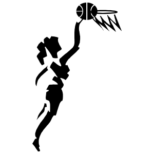 Abstract Girl Basketball Player Sticker