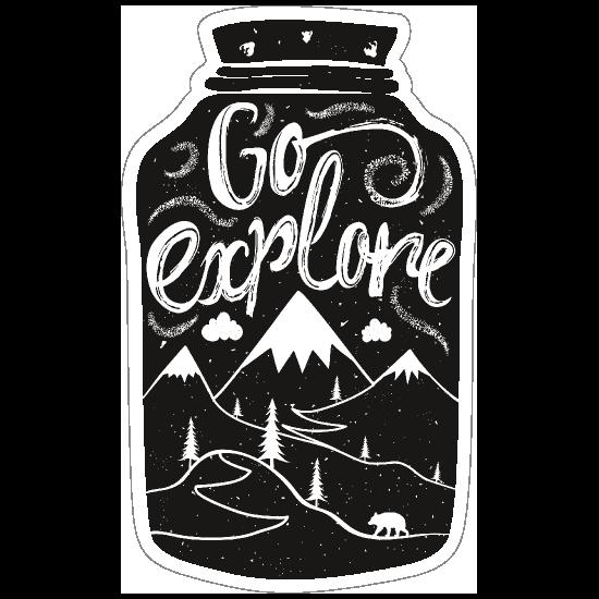 Go Explore Jar Sticker