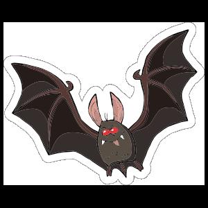 One Color Bat Outline Sticker