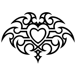 Gothic Heart Sticker