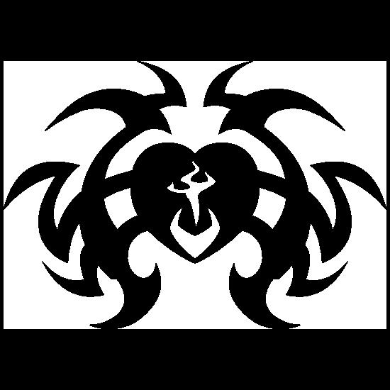 Gothic Heart Border Sticker
