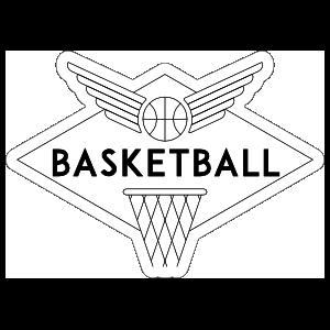 Graphic Line Basketball Sticker