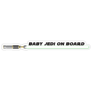 Green Baby Jedi on Board Sticker