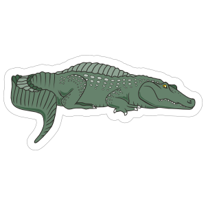 Green Gator Mascot Sticker
