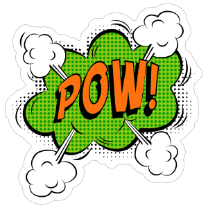 Green Pow Comic Sticker