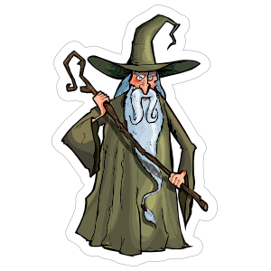 Green Robed Wizard Sticker