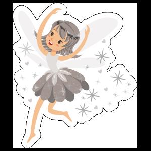 Grey Fairy with Pixie Dust Sticker