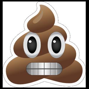 Grimacing Poop Emoji Sticker