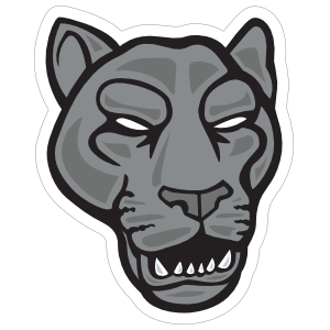 Growling Panther Head Mascot Sticker