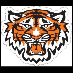 Growling Tiger Head Mascot Sticker