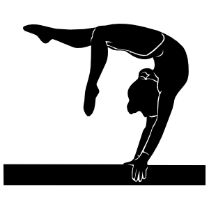 Gymnastics Balance Beam Sticker