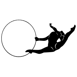Gymnast With Ring Sticker