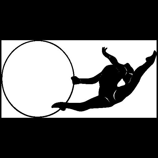 Gymnast With Ring Sticker