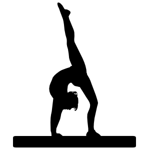 Gymnast On Balance Beam Sticker