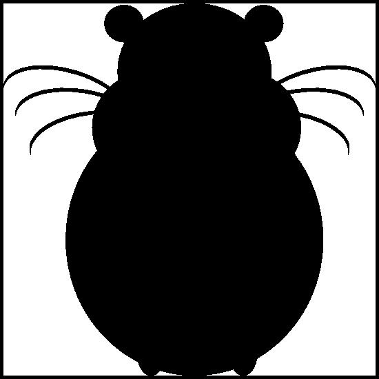 Hamster Silhouette Sticker