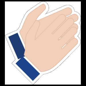 Hands Clapping Emoji Sticker