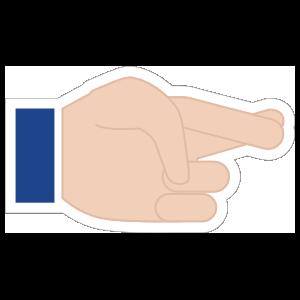 Hands Crossed Fingers LH Emoji Sticker