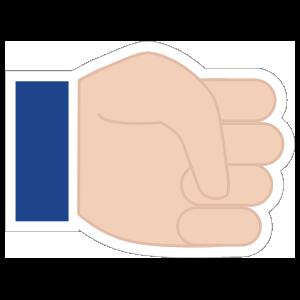 Hands Fist LH Emoji Sticker
