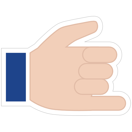 Hands Hang 10 Emoji Sticker