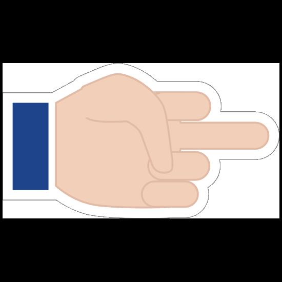 Hands Middle Finger LH Emoji Sticker