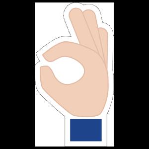 Hands Okay Emoji Sticker