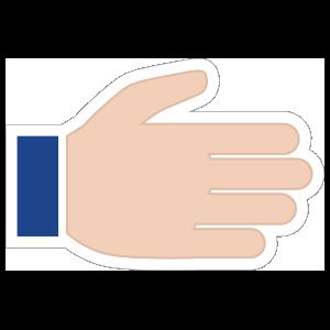 Hands Open RH Emoji Sticker
