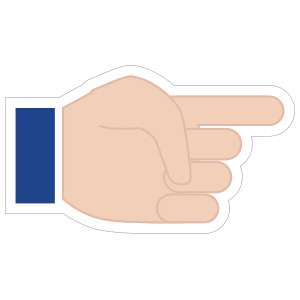 Hands Pointing with Thumb Down LH Emoji Sticker