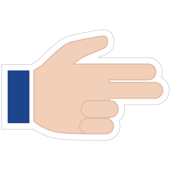 Hands Pointing With Two Fingers Thumb Up LH Emoji Sticker