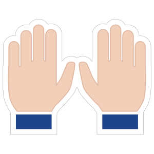 Hands Praise Emoji Sticker