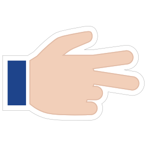 Hands Scissors with Thumb Up RH Emoji Sticker