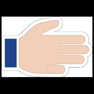 Hands Three Fingers LH Emoji Sticker