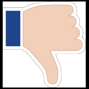 Hands Thumbs Down LH Emoji Sticker